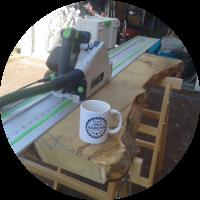Kräuterbeet – Holz auftrennen und hobeln