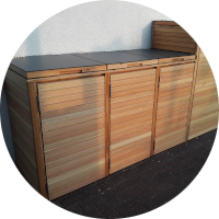 Tonnenbox – Blenden und Türen
