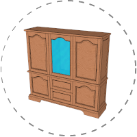 Wohnzimmerschrank – Die Projektidee